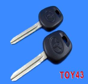 Toyota Key Shell TOY43 Duplicable Transponder