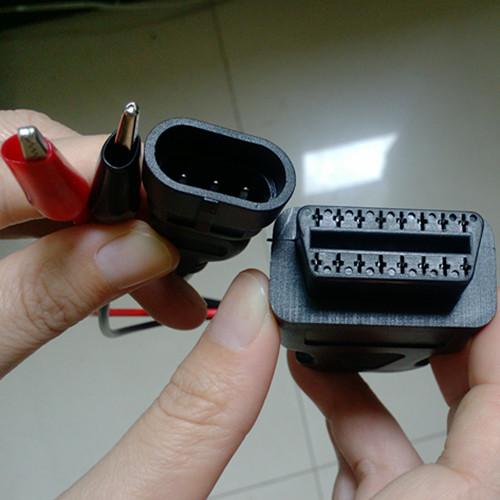 Fiat 3 Pin Alfa Lancia to 16 Pin OBD2 obd-ii connector Adapter Cable
